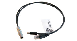 Adapter cable to interface PC-GW3016 Particle Counters via the WolfPack's 6 pin Lemo-type socket