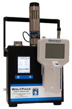 Area Monitor allows up to 3 probes plus Differential Pressure, Barometric Pressure and a Particulate Meter